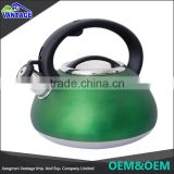 Wholesale green color 2.0L water pot non-electric stainless steel kettle