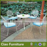 Balcony cafe table and chair aluminum furniture