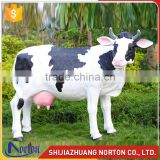 Life size resin simulate cow statue used for park NTRS-101LI