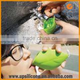 plastic travel folding cup travel camping silicone folding cup silicone leaf travel cup wholesale