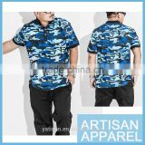 2016 New Arrival Plus Size Camouflage Cotton Manly Short Sleeve Casual Refined Polo Men Shirt Wholesale & OEM Made in China