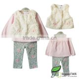 girls 3pcs clothing sets baby girls fashion new year outfits children's autumn clothes sets