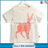 Manufacture of children clothing korean girls fashion t shirts with wholesale price