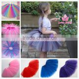 Wholesale boutique stylish mini puffy pretty baby tulle skirt