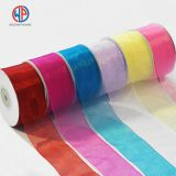 Most popular colorful 100% pure silk sheer organza ribbon