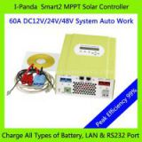 Smart solar charge controller 60A 12V/24V/48V automatically smart MPPT solar controller for PV/wind/gas system
