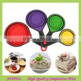 Amazon newest colorful collapsible silicone measuring cup spoons