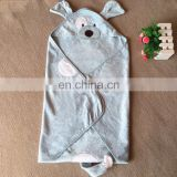 New fashion soft comfortable solid lovely cartoon animal style baby blanket manufacturers china