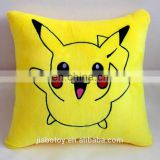 Hot sale high quality cartoon Pikachu pillow promotional custom Pikachu mascot stuffed plush toy design