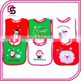 Wholesale high quality christmas baby cotton bibs triangle soft fashion baby bandana bibs