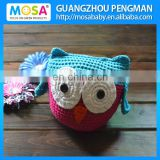 Crochet Blue/Peachy Crocheted OWL Stuffed Toy With Ears ,Baby Shower Gift
