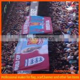 huge football polyester banner flag