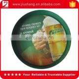 Anti slip round plastic beer tray with inside and outside printing Logo