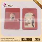 high quality horizontal waterproof clear soft pvc color printing fancy id card holder