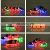 2014 Lattest Round Switch LED Flash Water-proof Dog Collar With S,M,LXL Size, 7 LED Colors