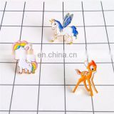 kids cute animal badge pin for kids clothing promotion colorful enamel clothing accessores badge customize shape