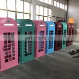 Retro European style london phone booth iron crafts