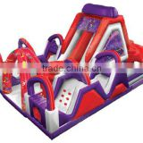 Pop inflatable amusement park toys inflatable slide obstacle inflatable bouncy obstacle for kids