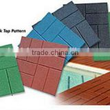 swimming pool border tile/swimming pool rubber tiles/landscaping rubber foor/anti-slip rubber tile for pool