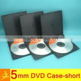 mini dvd case 5mm short black double dvd box                                                                         Quality Choice