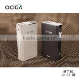 Newest OCIGA fashon ecig MT80 Tc Mod box, Charming Electronic cigarettes vapor box mod crit box mod 18650 v2