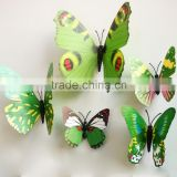 New design home decoration artificial 3d butterfly