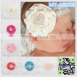 lace fancy kid hair accessory, bulk hair accessories rose flower MY-AE0003