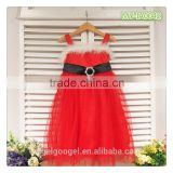 Baby plain red Christmas wedding dresses dress MY-IA0042