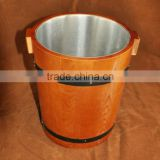 Custom Mini Galvanized Wood Ice Bucket Wholesale Wine Ice Buckets