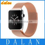 high quality 38mm link bracelet band For Apple Watch Milanese Loop 42mm Stainless Steel Strap Woven With Metal Adapter
