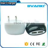 CE/UL/Rohs certificate Slim EU/US /UK plug universal Portable USB wall charger with the high power 5V2.1a bulk buy from china