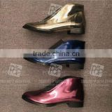 Factory direct sale simple design leather flat single shoes China wholesale