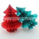 Tissue Paper Honeycomb Christams Decoration Paper mache Christmas Trees