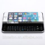 For iphone 6 new slim slide out mini wireless keyboard with hard case cover