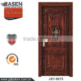 New classic design veneer wood door polish color wood door entrance for sale