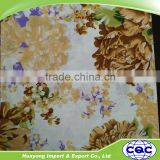 Cheap price 100% polyester print bed sheet fabric flower design bed sheet dubai bed sheet set