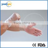 Disposable Vinyl gloves 240mm and 290mm ,clear color with different weight medical pvc gloves,