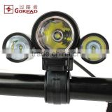 Goread T08 bike light head ligt ( 2 in 1) rechargeable 18650 3 pcs led bike head light