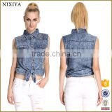 Shirt for women and tops sleeveless shirt women denim shirt                                                                         Quality Choice