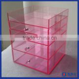 Manufacturer supplier 5 tier acrylic makeup organizer / high quality acrylic makeup organizer 5 drawer