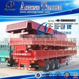 Best selling tri axle side wall high bed semi trailer with leaf spring suspension for bulk cargo