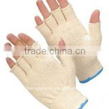 Comfortable Fingerless Natural String Knit Glove, Cotton working glove, Safety equipment, Protective glove, China