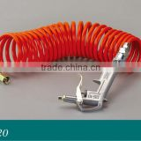 Cable cleaning Spring Air hose with gun