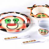 Cattle shape melamine european baby dishes bowls sets