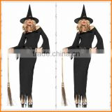 Costume Witch black long Witch Costume Halloween Costume Witch night ghost game dress