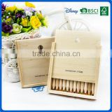 Hot sale wooden colored art coloring pencil set into slidding mini drawer wood box                                                                                                         Supplier's Choice
