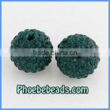 Big Size 14MM Shamballa Crystal Beads Wholesale In Bulk High Quality Emerald 9Colors Disco Ball Jewelry Accessories