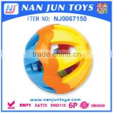 Popular new products Non-toxic hollow Rattle Ball plastic baby toy ball