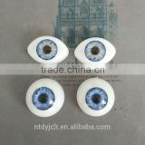Oval and round blue acrylic doll eyes