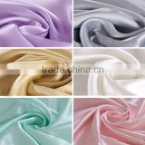 93%silk 7%span stretch satin woven fabric elastic satin brocade solid and print for wedding dress lady shirt